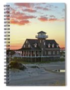 Oregon Inlet Life Saving Station 2687 Pano Signed Spiral Notebook