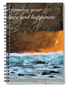 Peace And Happiness Spiral Notebook
