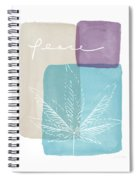 Peace Cannabis Leaf Watercolor- Art By Linda Woods Spiral Notebook