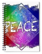 Peace Cool Rainbow 3 Dimensional Spiral Notebook