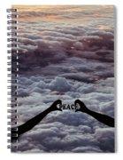Peace - Digital Art Spiral Notebook