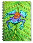 Peace Frog On A Leaf Spiral Notebook