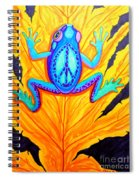 Peace Frog On Fall Leaf Spiral Notebook