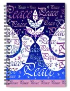 Peace Holiday Card Spiral Notebook