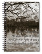Peace I Leave With You Spiral Notebook