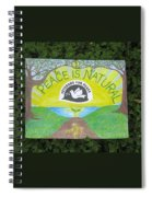 Peace Is Natural Spiral Notebook