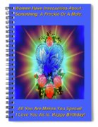 Peace Light And Love Spiral Notebook