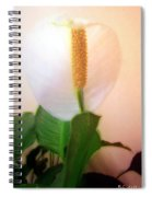 Peace Lily Luminous Spiral Notebook