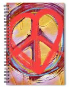 Peace Love  Art Spiral Notebook