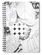 Peace Rules Spiral Notebook