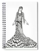 Peace Woman Wild Ink Spiral Notebook