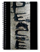 Peace Written In The Trees 4 Spiral Notebook