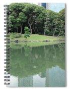 Peaceful Bridge In Tokyo Park Spiral Notebook