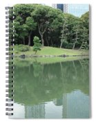 Peaceful Bridge In Tokyo Park Spiral Notebook