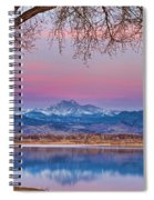 Peaceful Early Morning First Light Longs Peak View Spiral Notebook