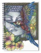 Peaceful Flight Spiral Notebook