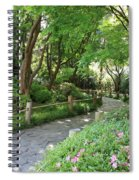 Peaceful Garden Path Spiral Notebook