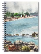 Peaceful Morning At The Harbor  Spiral Notebook