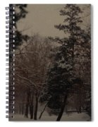 Peaceful Snow Dusk Spiral Notebook