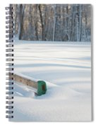 Peaceful Winter Snow Spiral Notebook