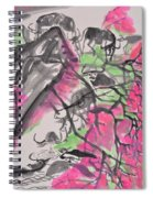 Peach Blossom And Water Buffalo Spiral Notebook