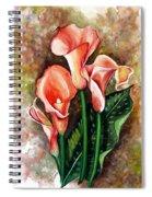 Peach Callas Spiral Notebook