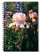 Peach Iris Spiral Notebook