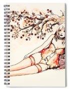 Peach Spiral Notebook