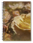 Peach Yellow Roses Spiral Notebook
