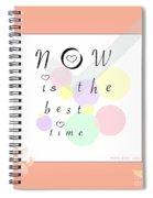 Peachy Pink Wabi Sabi Time Spiral Notebook
