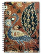 Peacock Among Flowers Spiral Notebook