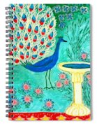 Peacock And Birdbath Spiral Notebook