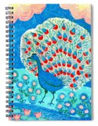 Peacock And Lily Pond Spiral Notebook