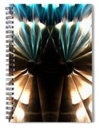Peacock Art In Abstract Spiral Notebook