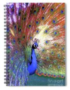 Peacock Beauty Colorful Art Spiral Notebook