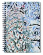 Peacock Blue Fragmented And Vegged Out Spiral Notebook