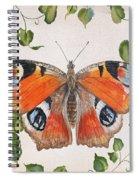 Peacock Butterfly-jp3878 Spiral Notebook