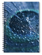 Peacock Feather Macro Waterdrops Spiral Notebook