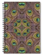 Peacock Feather Mandala Spiral Notebook