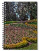 Peacock Garden Spiral Notebook