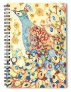 Peacock Hiding In My Poppy Garden Spiral Notebook