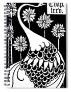 Peacock Illustration From Le Morte D'arthur By Thomas Malory Spiral Notebook