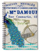 Peacock On Bicycle-jp3607 Spiral Notebook