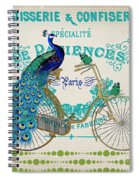 Peacock On Bicycle-jp3608 Spiral Notebook