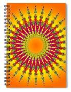 Peacock Sun Mandala Fractal Spiral Notebook