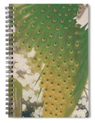 Peacocks And Cherry Tree Spiral Notebook