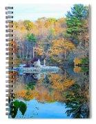 Peak Autumn Reflection 6 Spiral Notebook