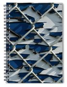 Pealing Paint Fence Abstract 1 Spiral Notebook