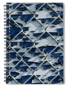 Pealing Paint Fence Abstract 3 Spiral Notebook