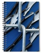 Pealing Paint Fence Abstract 5 Spiral Notebook